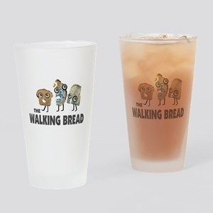the walking bread Drinking Glass