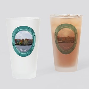 Curacao Porthole Drinking Glass