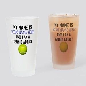 Custom Tennis Addict Drinking Glass