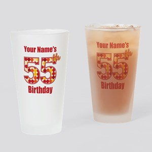 Happy 55th Birthday - Personalized! Drinking Glass