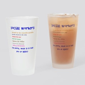 Social Work Drinking Glass