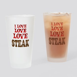 Love Love Steak Drinking Glass