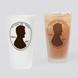 Penny Lincoln Silhouette Drinking Glass