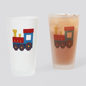 Colorful train Drinking Glass