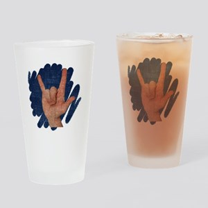 I Love You - Deaf Awareness Drinking Glass