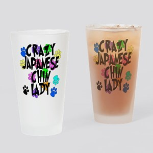 Crazy Japanese Chin Lady Drinking Glass