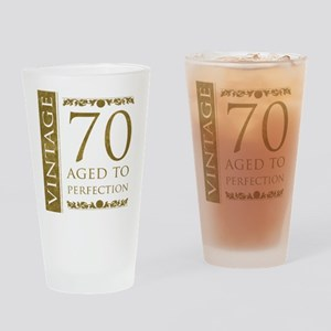Fancy Vintage 70th Birthday Drinking Glass
