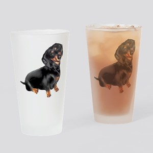 Black-Tan Dachshund Drinking Glass