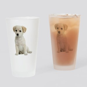 Labrador Puppy Drinking Glass