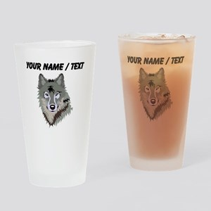 Custom Wolf Drinking Glass