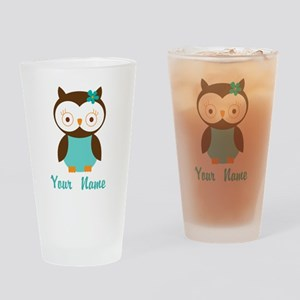 Personalized Owl Drinking Glass
