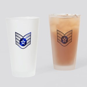 Air Force Staff Sergeant Drinking Glass