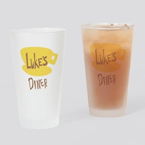 Lukes Diner Logo Drinking Glass