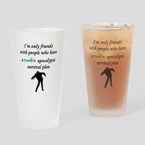 Zombie Plan Drinking Glass