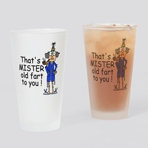 Mr. Old Fart Drinking Glass