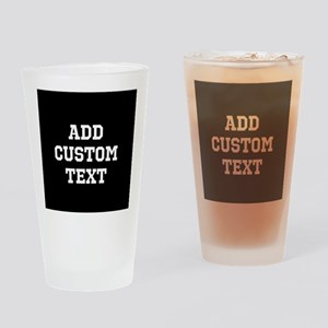 Custom Sports Text Black and White Drinking Glass