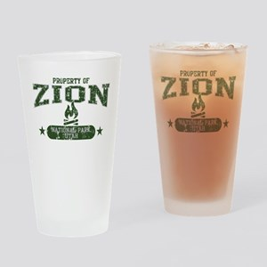 Zion Nat Park Campfire Drinking Glass
