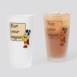 Mighty Mouse Eat Veggies Drinking Glass