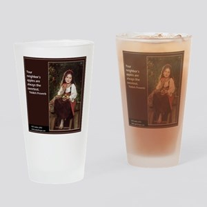 Famous Yiddish Saying Drinking Glass