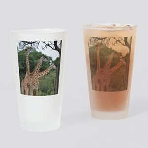 three giraffes Drinking Glass