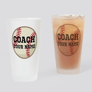 Personalized Baseball Coach Drinking Glass