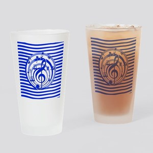 Stylish musical notes and stripes design Drinking