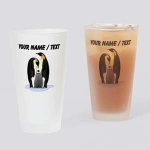 Custom Penguin Family Drinking Glass