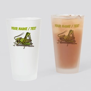 Custom Green Cricket Drinking Glass