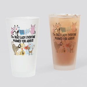 That Cat Lady Drinking Glass
