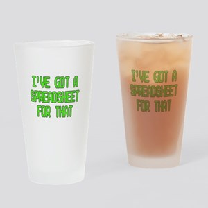 Spreadsheet Drinking Glass