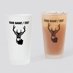 Custom Buck Head Drinking Glass