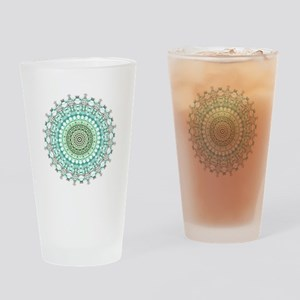 Evergreen Mandala Pattern Drinking Glass