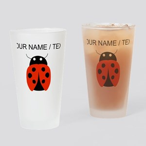 Custom Red Ladybug Drinking Glass