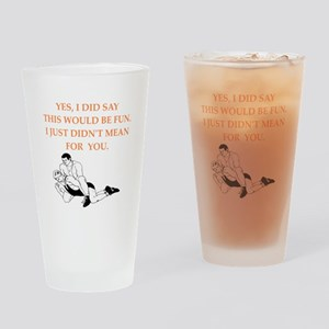 wrestling Drinking Glass