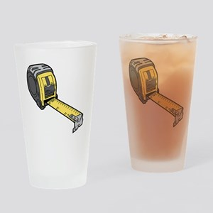 Yellow Tape Measure Drinking Glass