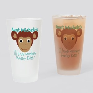 Personalize Love monkey Drinking Glass