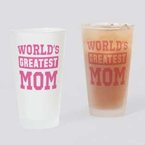 [Pink] World's Greatest Mom Drinking Glass