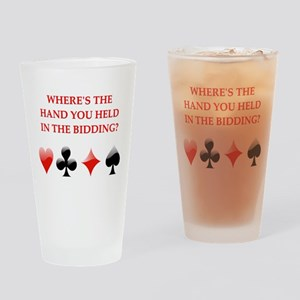 duplicate bridge gifts Pint Glass