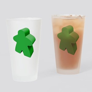 Green Meeple Drinking Glass