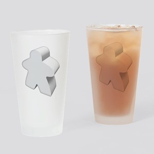 White Meeple Drinking Glass