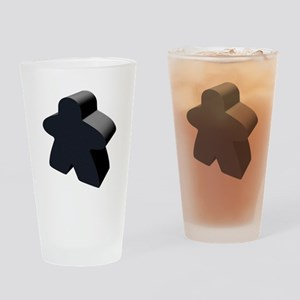Black Meeple Drinking Glass