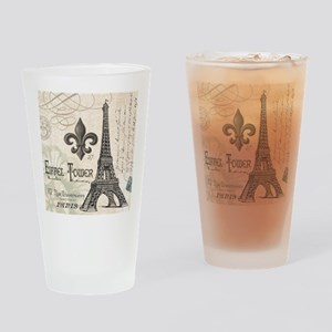Modern Vintage Eiffel Tower Drinking Glass