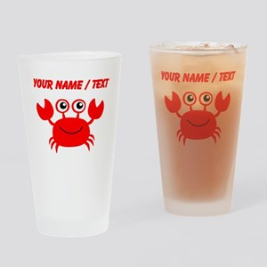 Custom Red Crab Drinking Glass