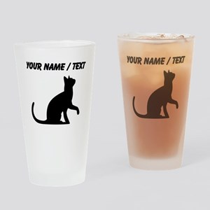Custom Cat Sitting Drinking Glass