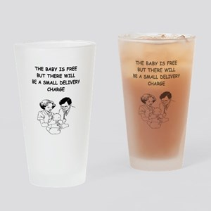 obstetrician joke Pint Glass