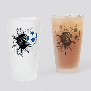 Breakthrough Soccer Ball Drinking Glass
