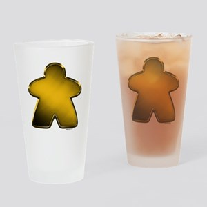 Metallic Meeple - Gold Drinking Glass
