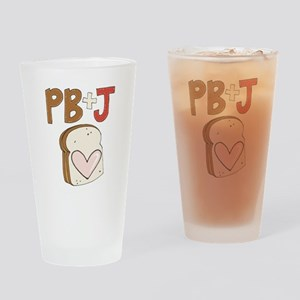 PB and J Sandwich Heart Drinking Glass
