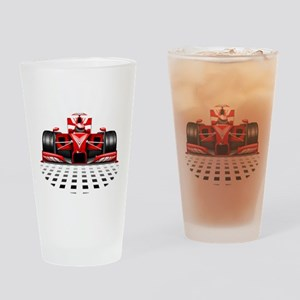 Formula 1 Red Race Car Drinking Glass