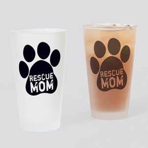 Rescue Mom Drinking Glass